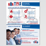 Full page advert design for TRS for the Gibs Mag: Acumen