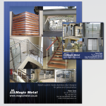 Full page advert and classified advert for Magic Metal in the SA Home Owner magazine