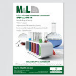 Full page advert for M & L